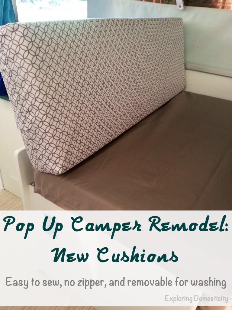 Pop Up Camper Remodel: New Cushions