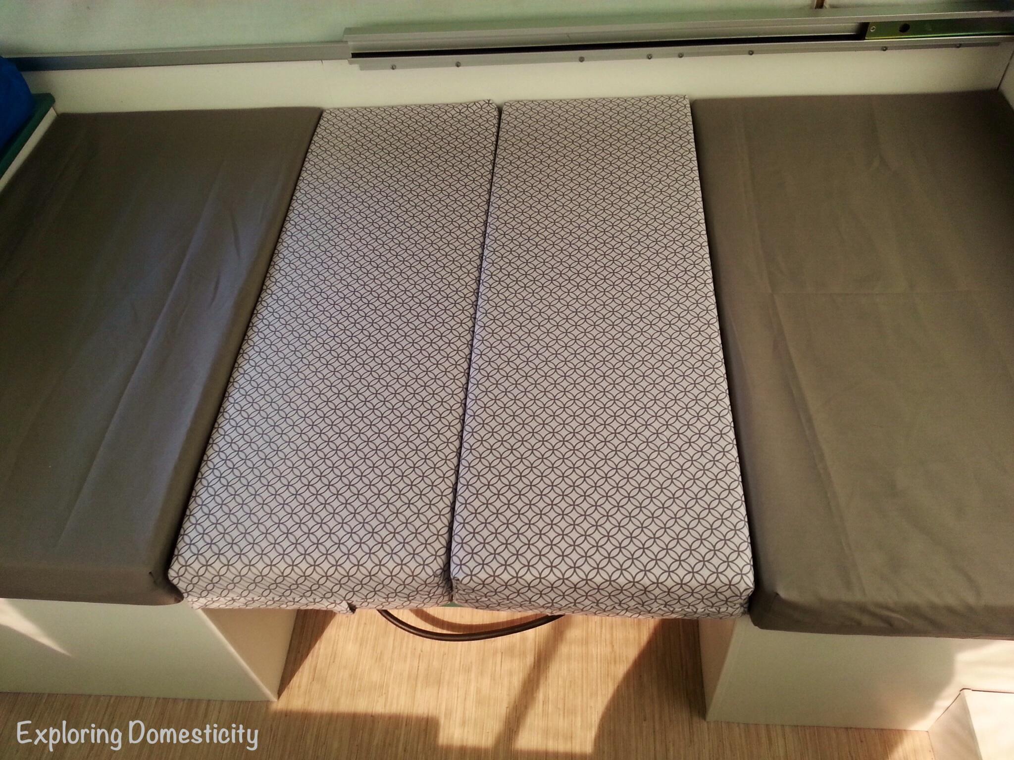 Pop Up Camper Remodel New Cushions ⋆ Exploring Domesticity