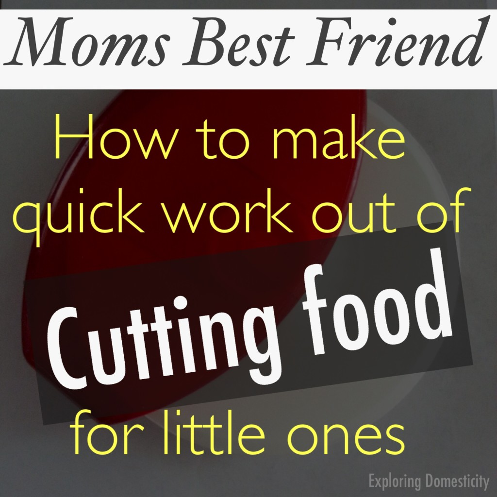 The best tool for cutting food for little ones quickly and easily