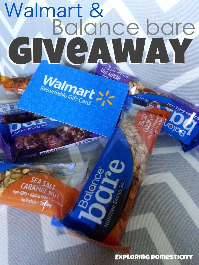 Walmart and balance bare giveaway #BalanceAtWalmart
