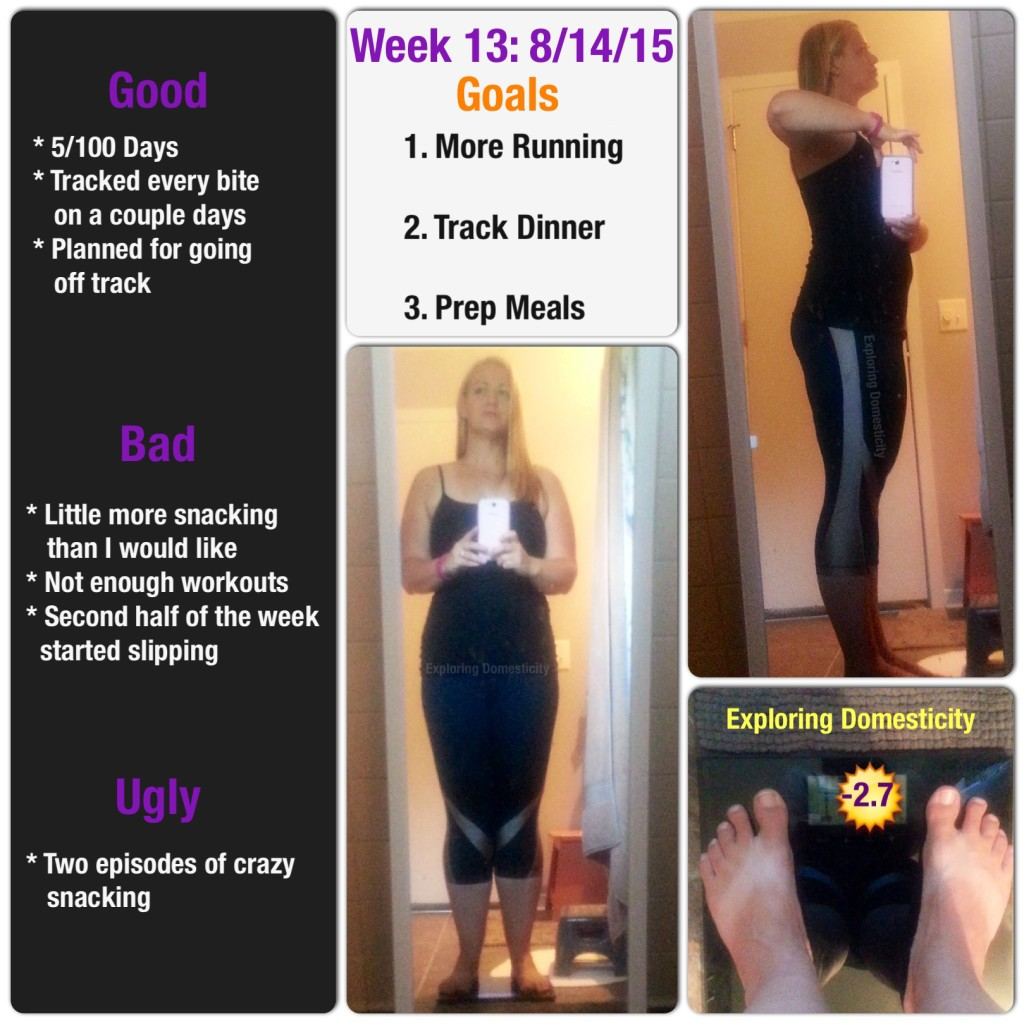 Accountability check in and weight loss: week 13