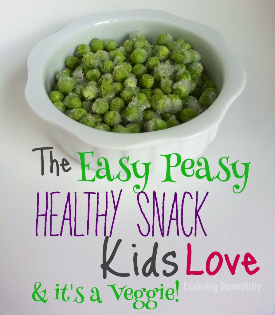 The easy peasy healthy snacks kids love! And it's a veggie!