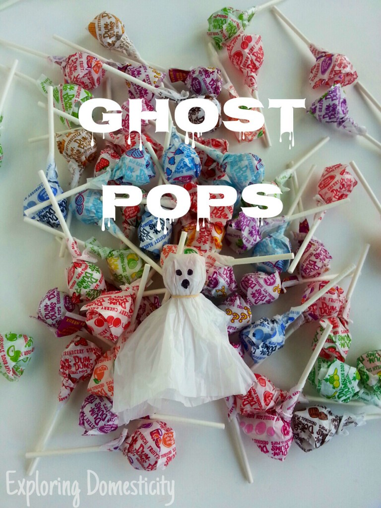 Ghost Pops: add a little flair for Halloween and reuse all those plastic bags