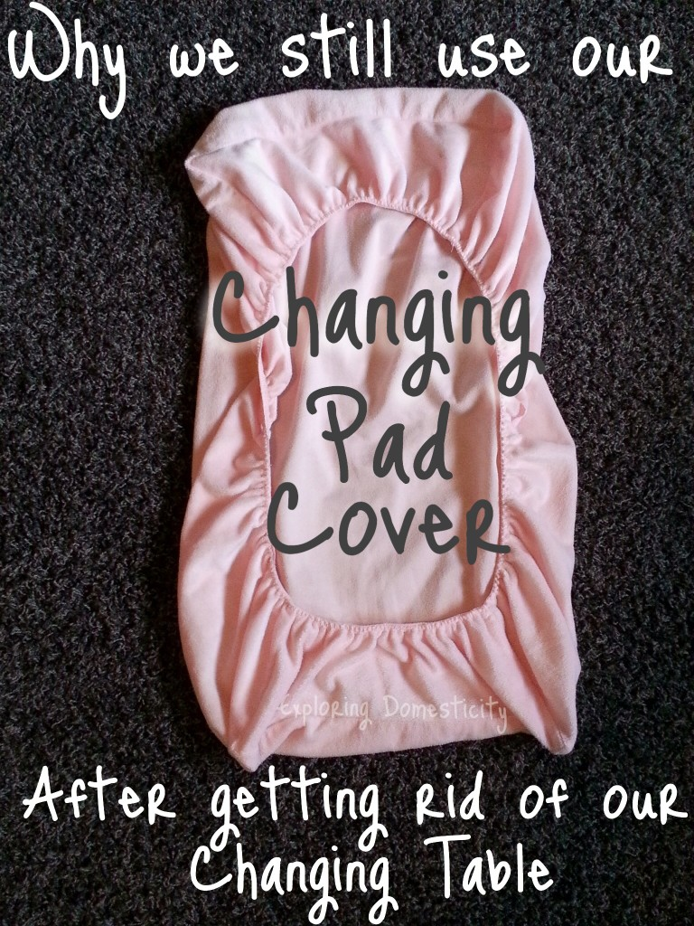 New Use for your Old Changing Pad Cover: Keeping Things Clean with Sick Little Ones