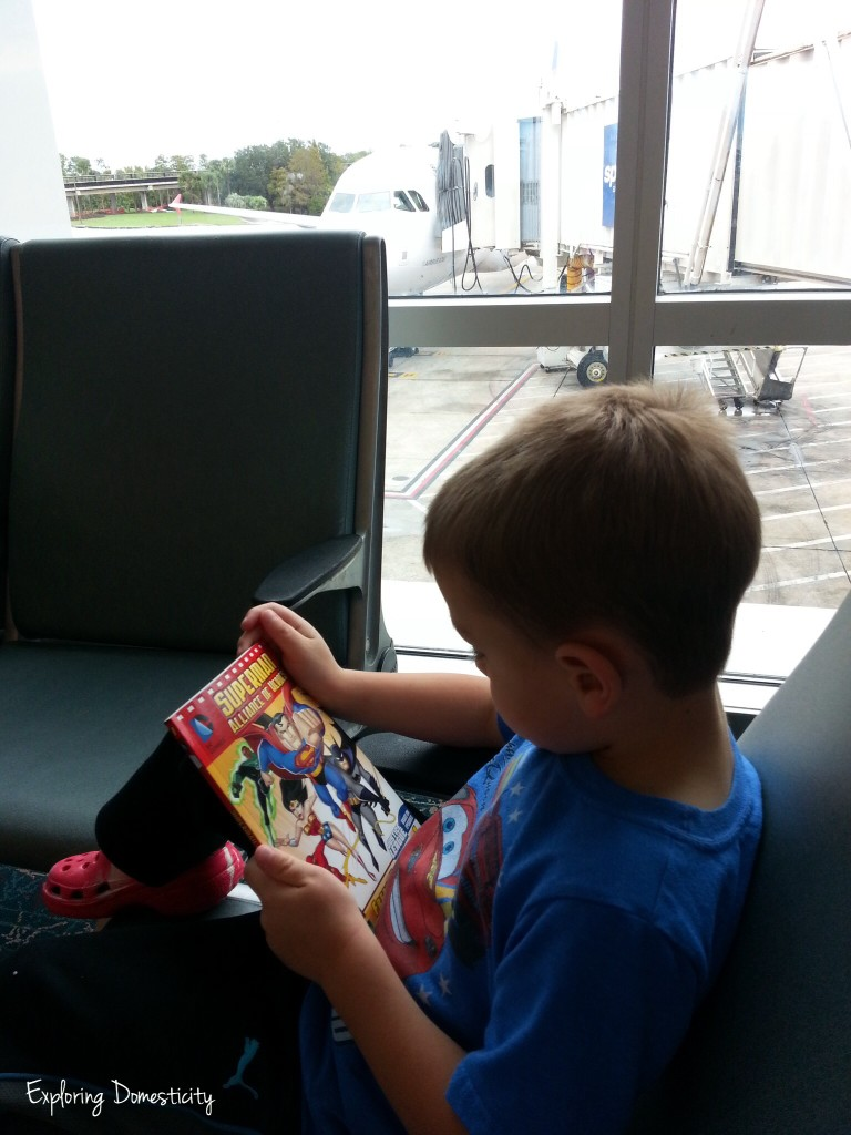 Tips for flying with young children: planning ahead, security, snacks, staying together, seating and activities.