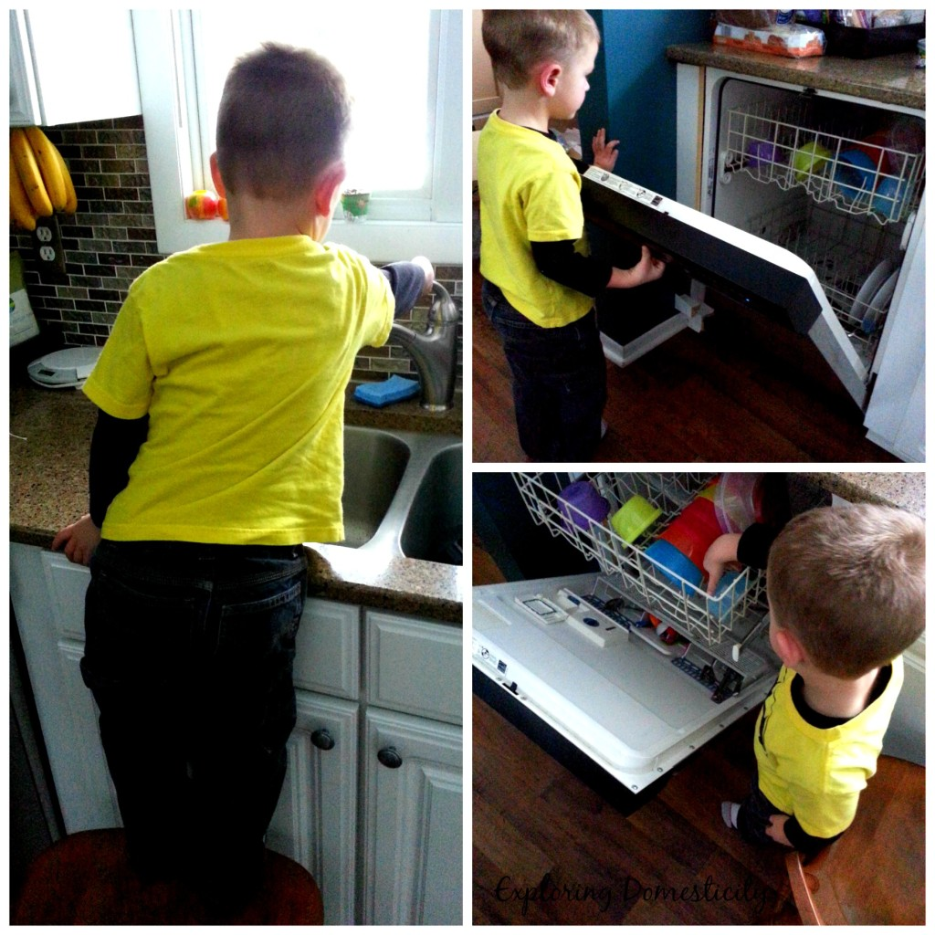Making Cleaning Fun for Kids - teach new skills and praise each step