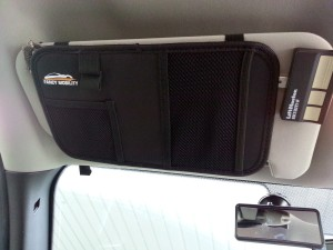 Fancy mobility backseat car organizer