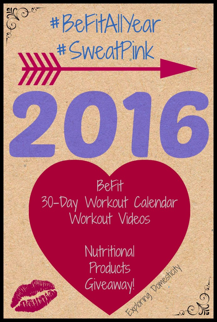 BeFitAllYear workouts, calendar, and nutrition product giveaway!