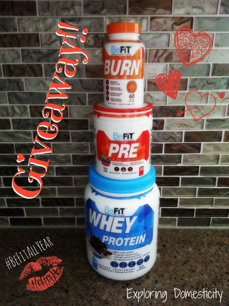 BeFit Nutrition Products Giveaway