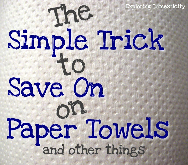 The simple trick to save on appear towels - and other things