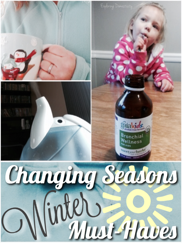 Changing Seasons Winter Must-Haves: natural cold products, clothing, skin care, and more