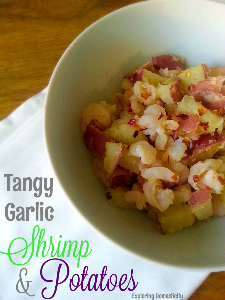 Tangy Garlic Shrimp and Potatoes