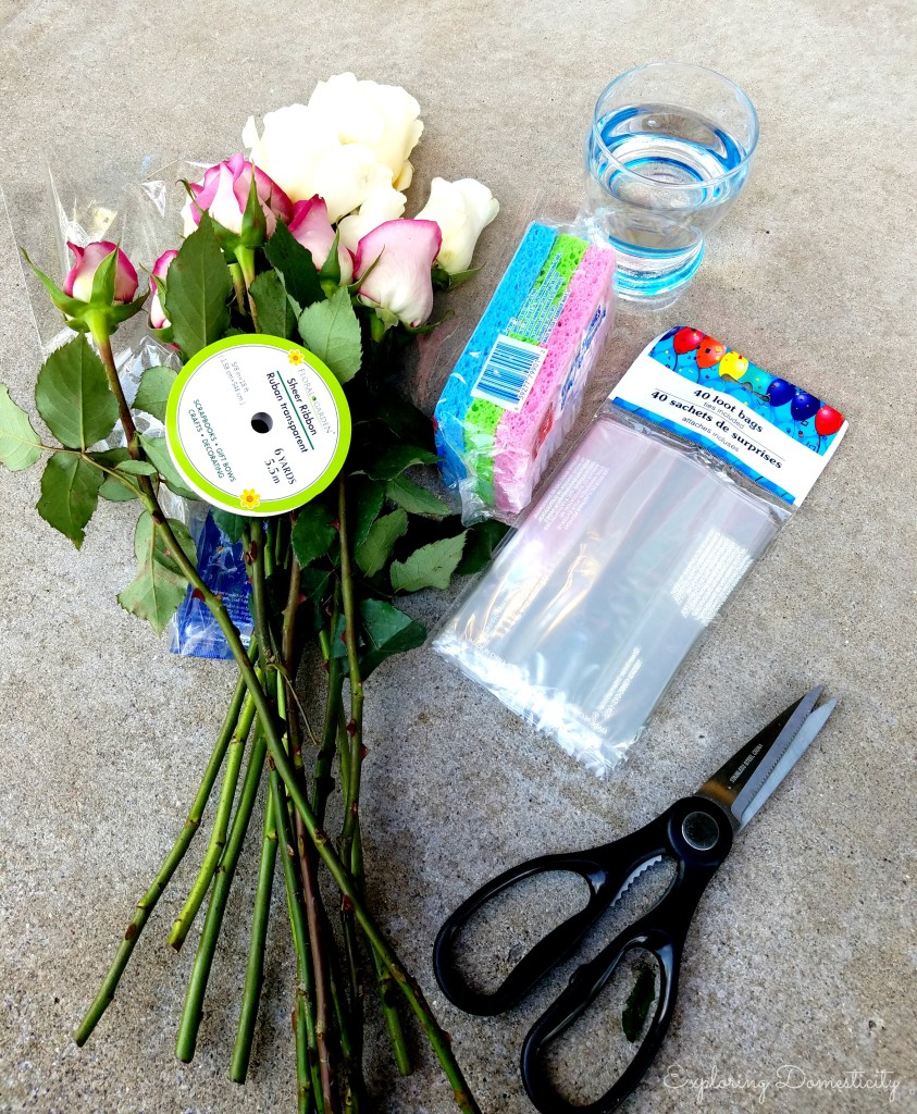 Easy and Adorable Way to Give Fresh Flowers: what you need