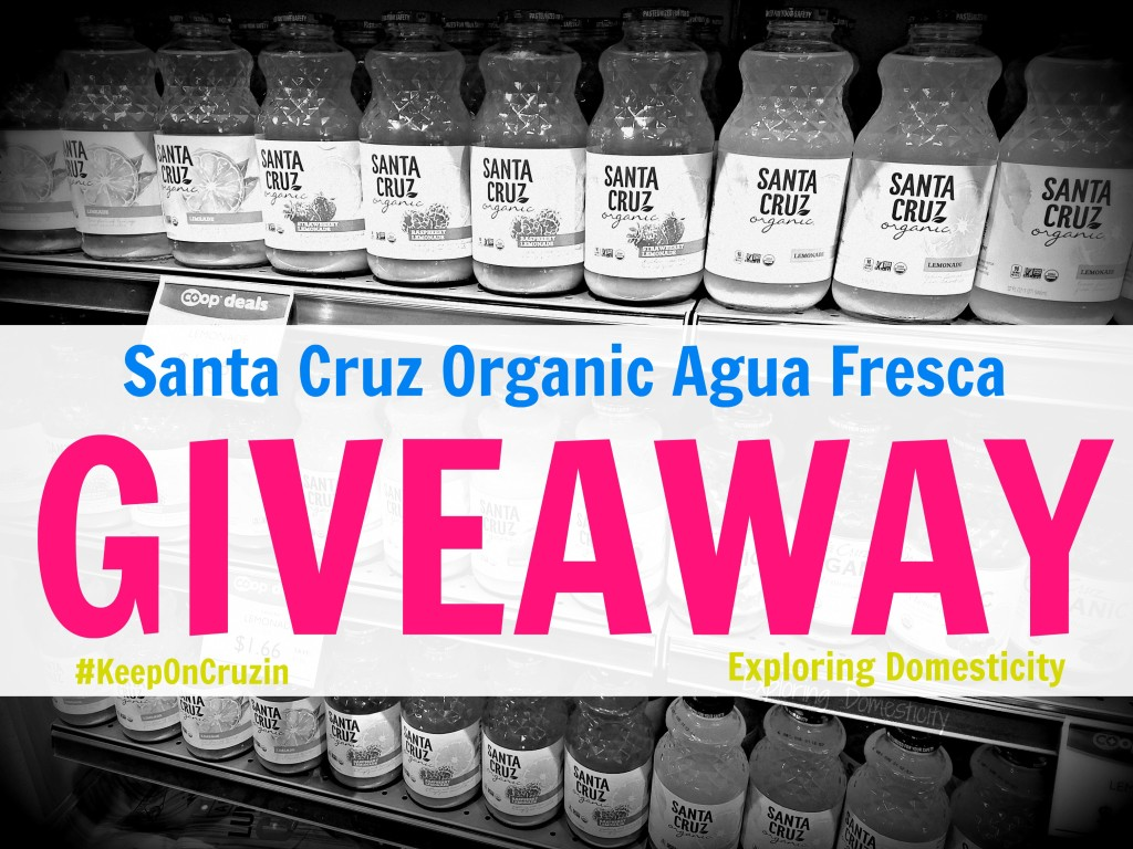 Santa Cruz Organic Agua Fresca review and giveaway #momsmeet
