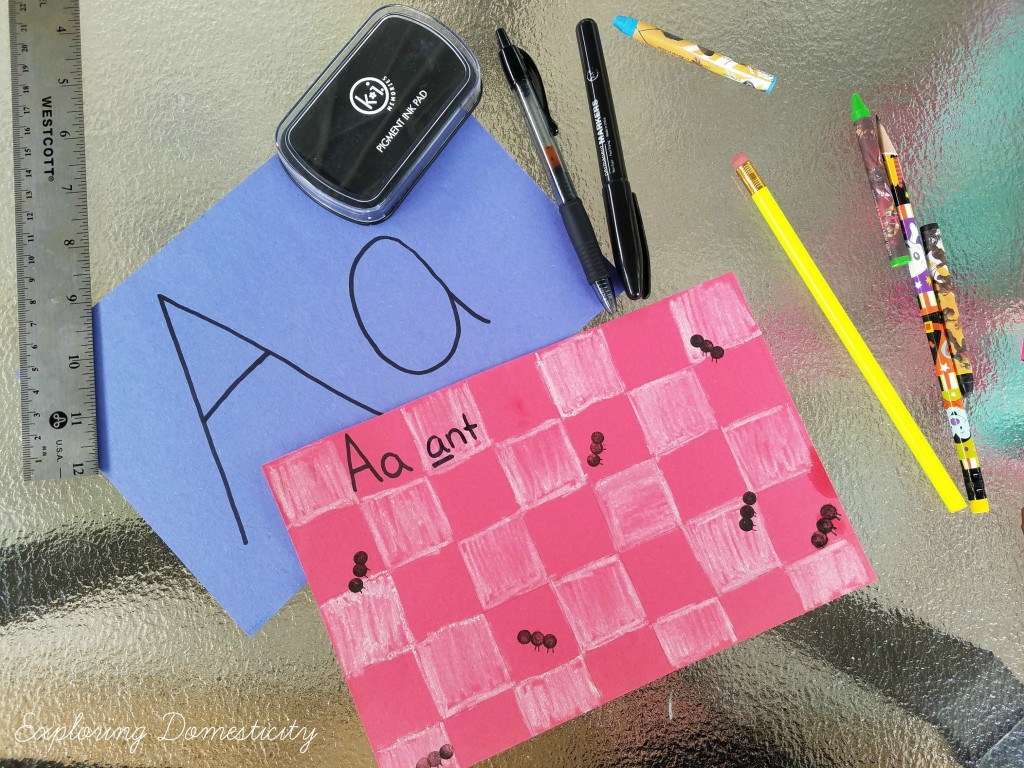 ABCs of Summer Ant Stamping supplies