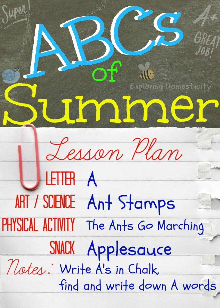 ABCs of Summer Lesson Plan A
