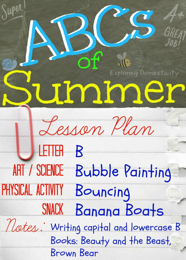 ABCs of Summer Lesson Plan B