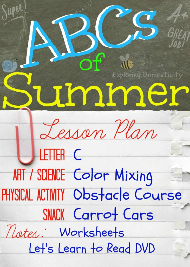 ABCs of Summer Lesson Plan C