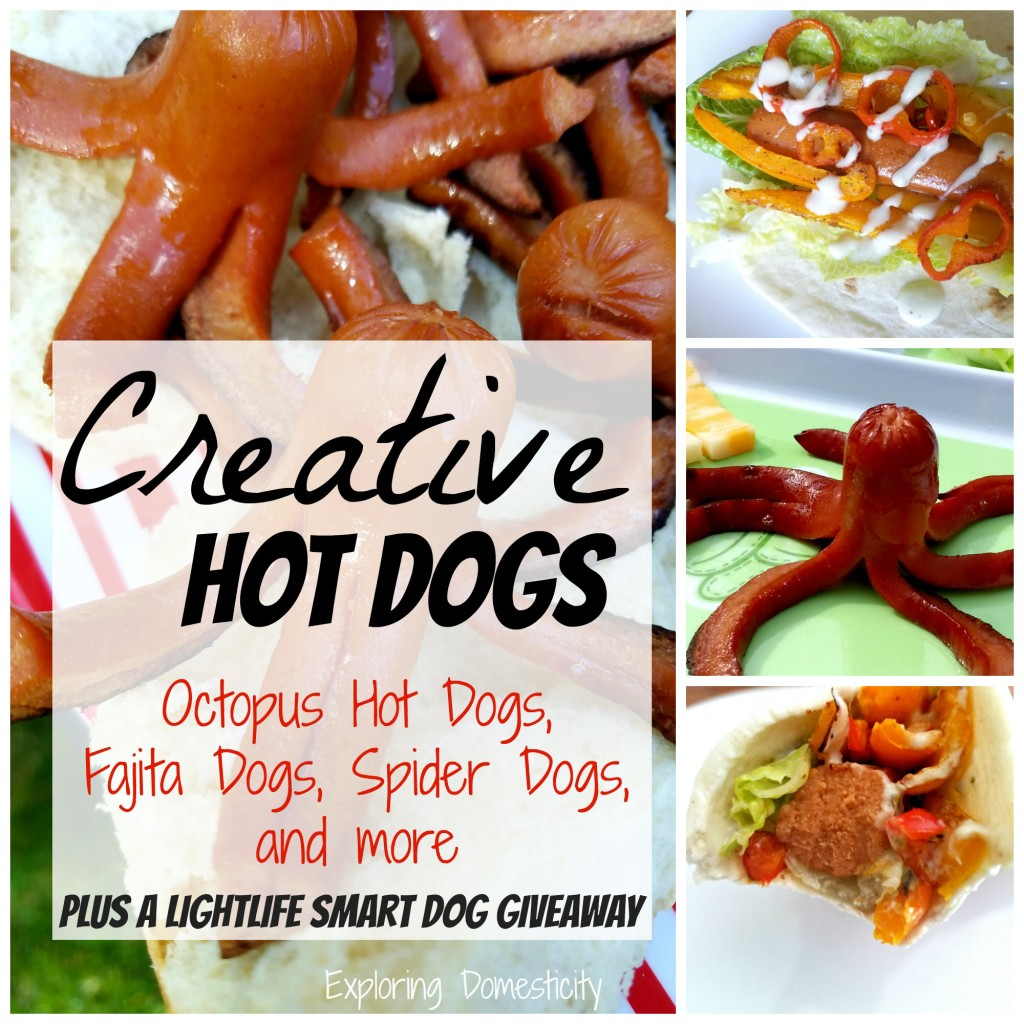 Creative Hot Dogs - octopus hot dogs, fajita dogs, spider dogs, and more