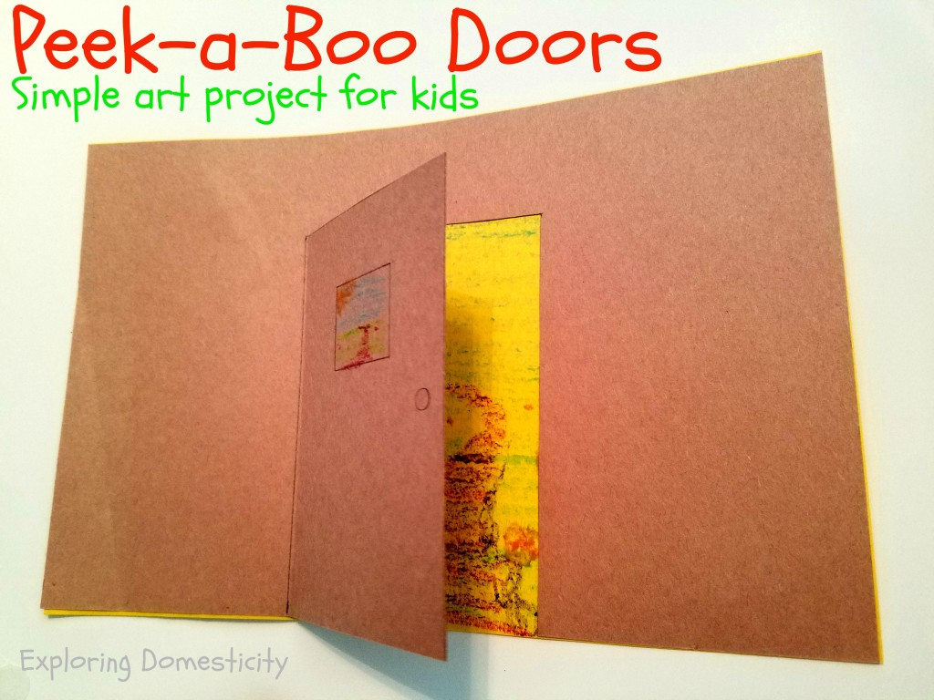 peek-a-boo doors art project