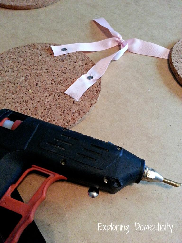 DIY Cork Message Boards {super easy IKEA hack}