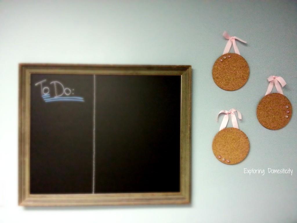 DIY Cork Message Boards with custom thumb tacks {super easy IKEA hack}