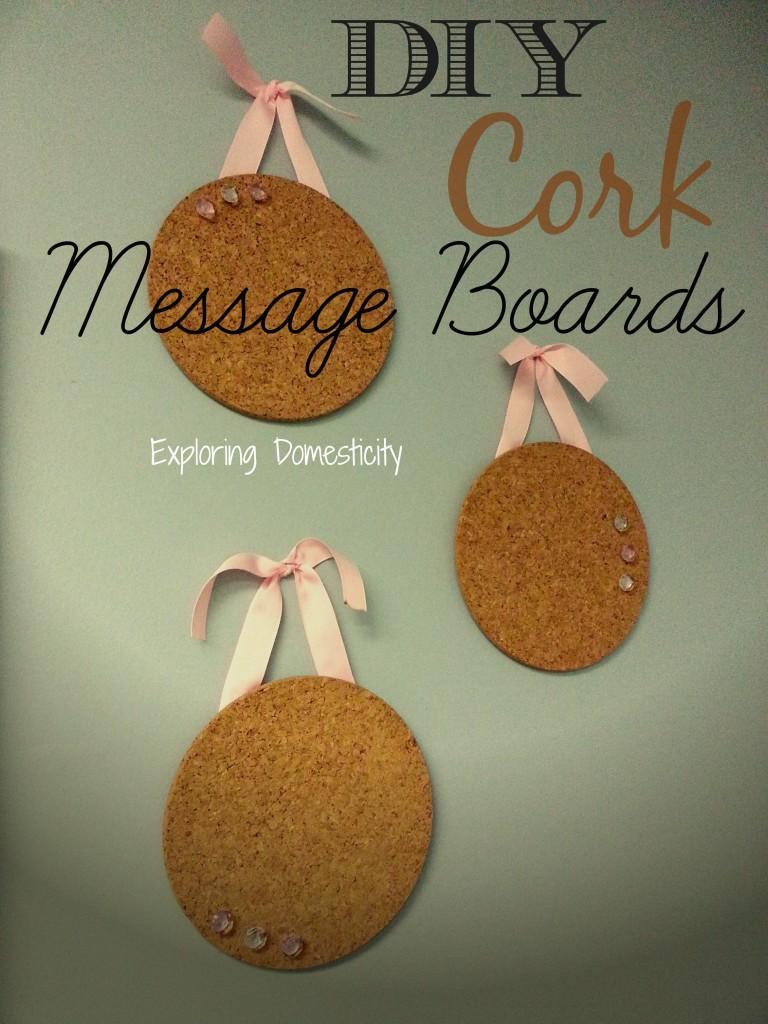 Super Easy DIY Cork Message Board for adorable organization {IKEA hack}
