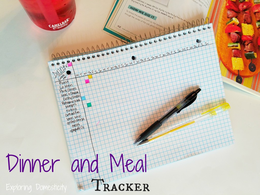 Dinner and Meal Tracker