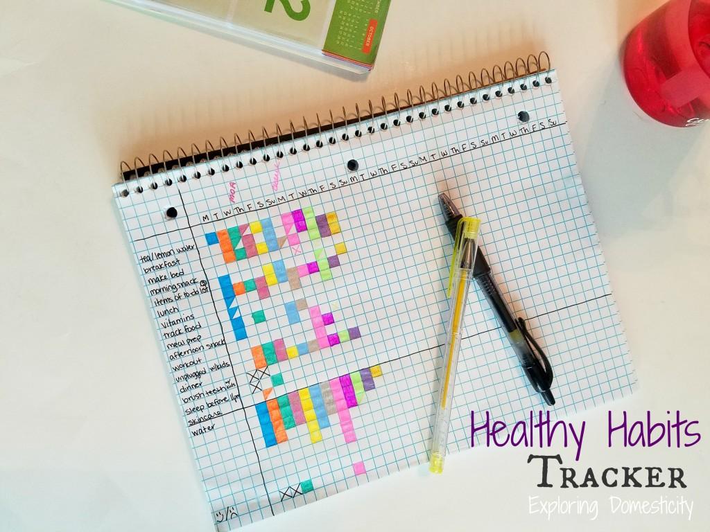 Healthy Habits Tracker - weight loss, fitness, health, wellness