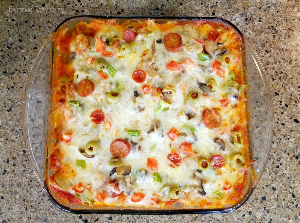 Spaghetti Squash Pizza Hotdish