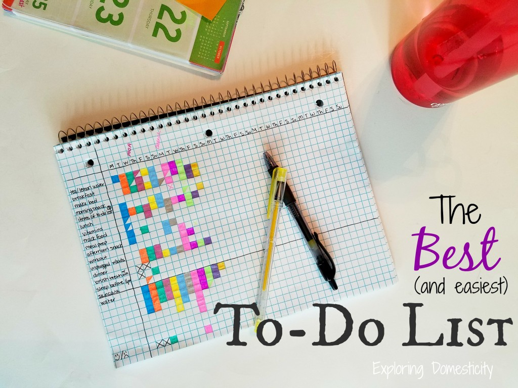 The Best (and easiest) To-Do list (for anything from cleaning to meal planning)