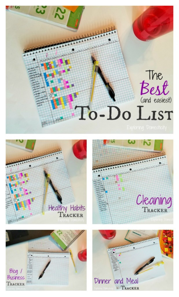 The Best (and easiest) To-Do List: healthy habits and fitness, cleaning, business and blogging, meals, etc