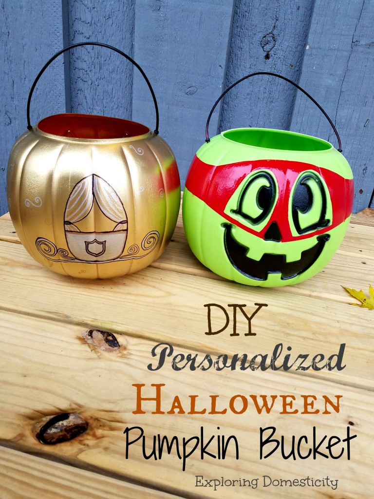 DIY Personalized Halloween Pumpkin Bucket