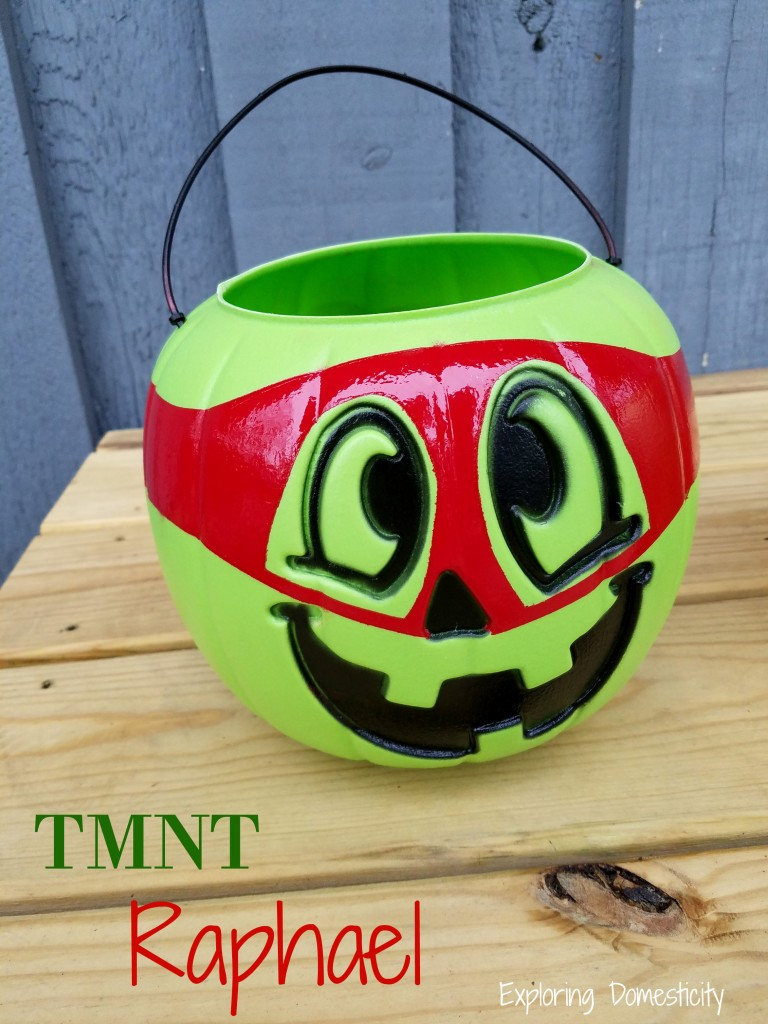 Ninja Turtle Halloween Bucket