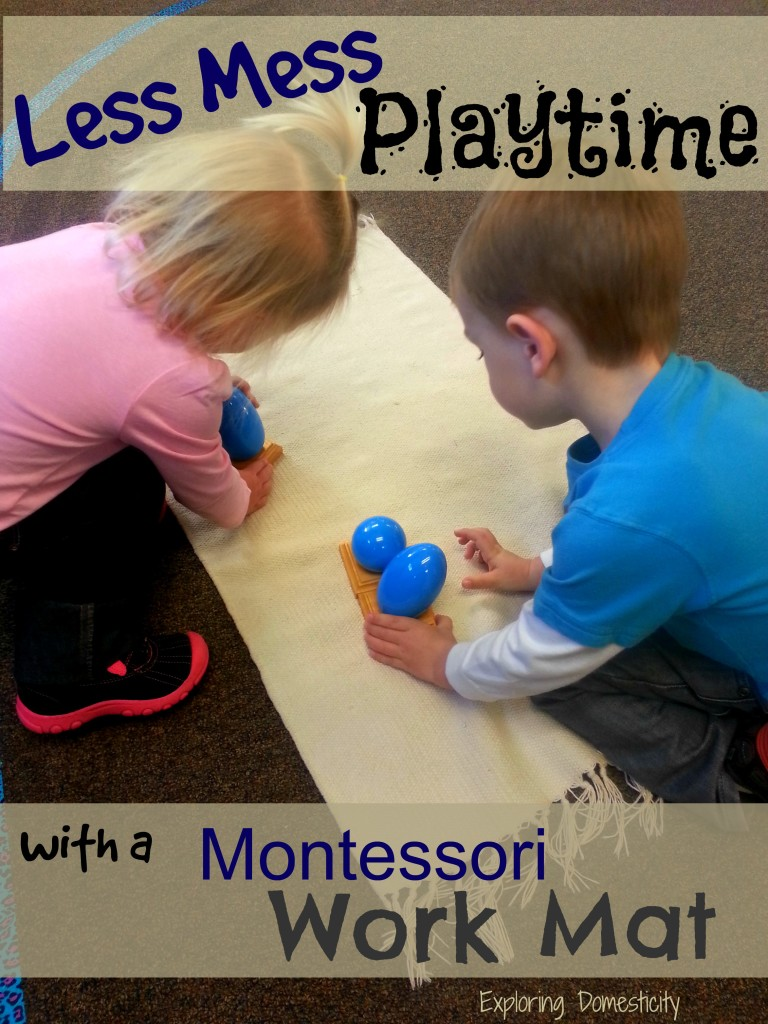 less mess playtime with a montessori work mat