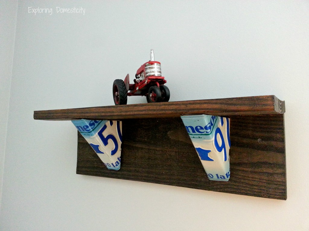 Route 66 Bedroom license plate shelves