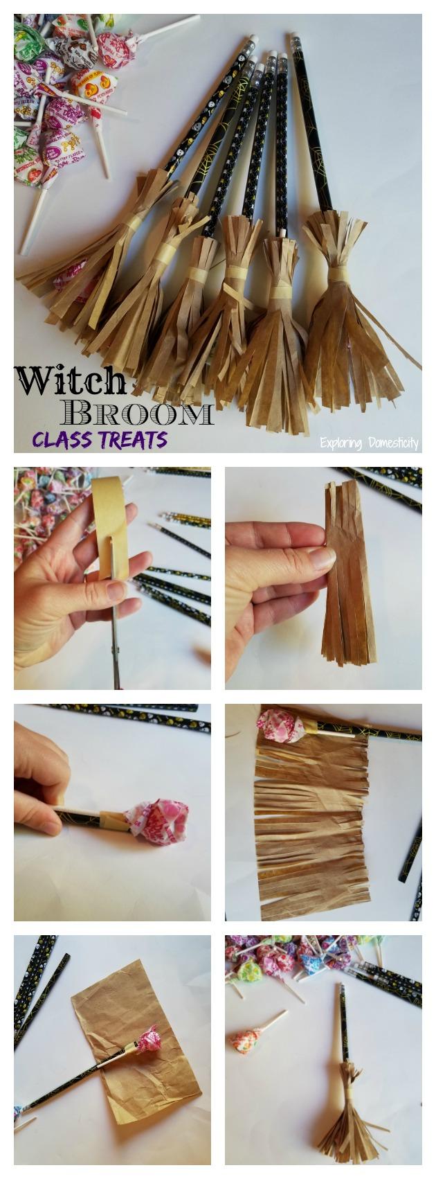 Witch Broom Halloween Class Treats ⋆ Exploring Domesticity