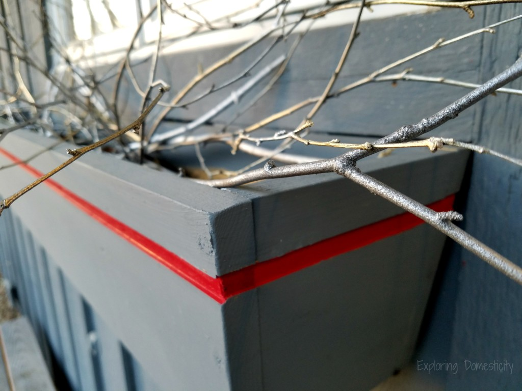 Metallic sticks for DIY $2 Holiday Flower Boxes