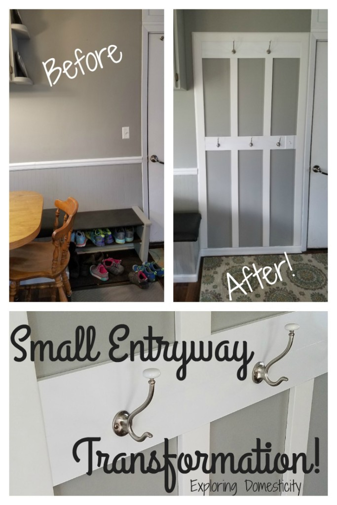 Small Entryway Transformation Before and After