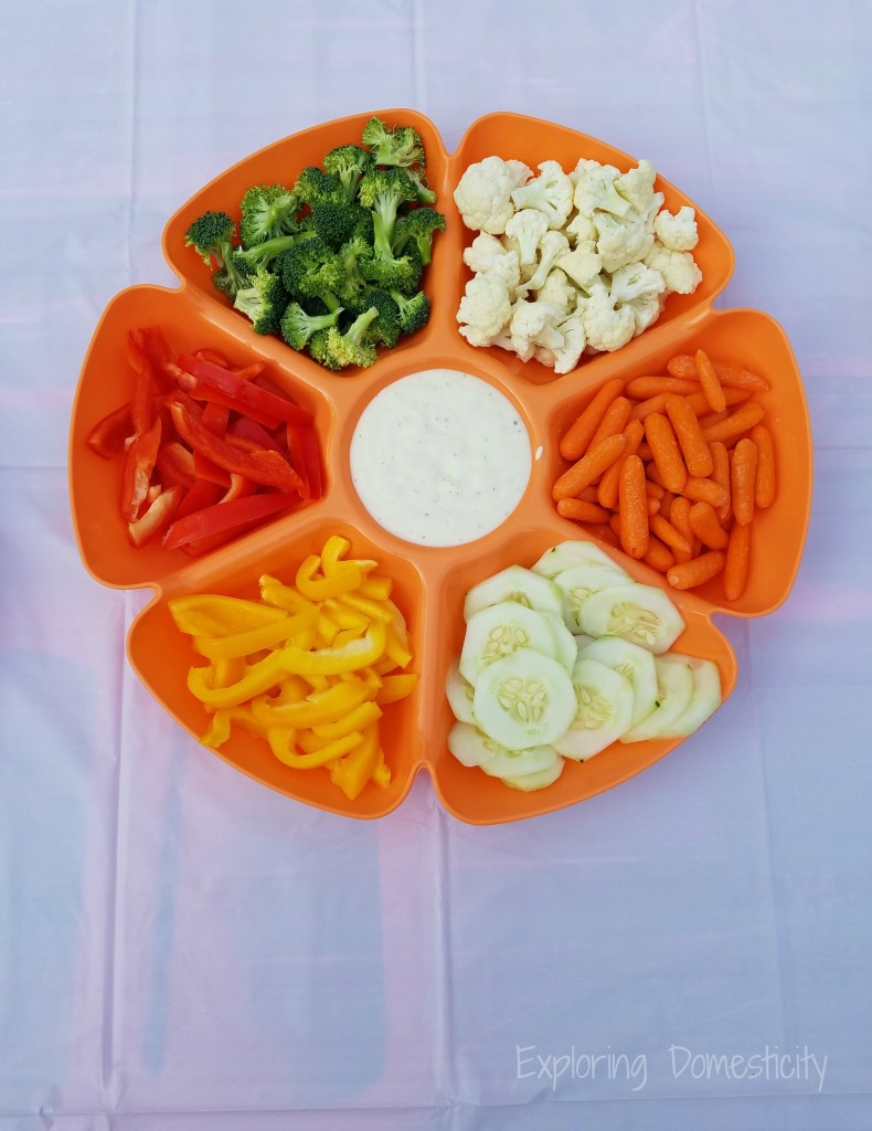 Rainbow Birthday Party: Veggies