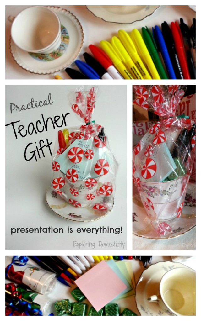 Practical Teacher Gift: Practical ideas and adorable presentation