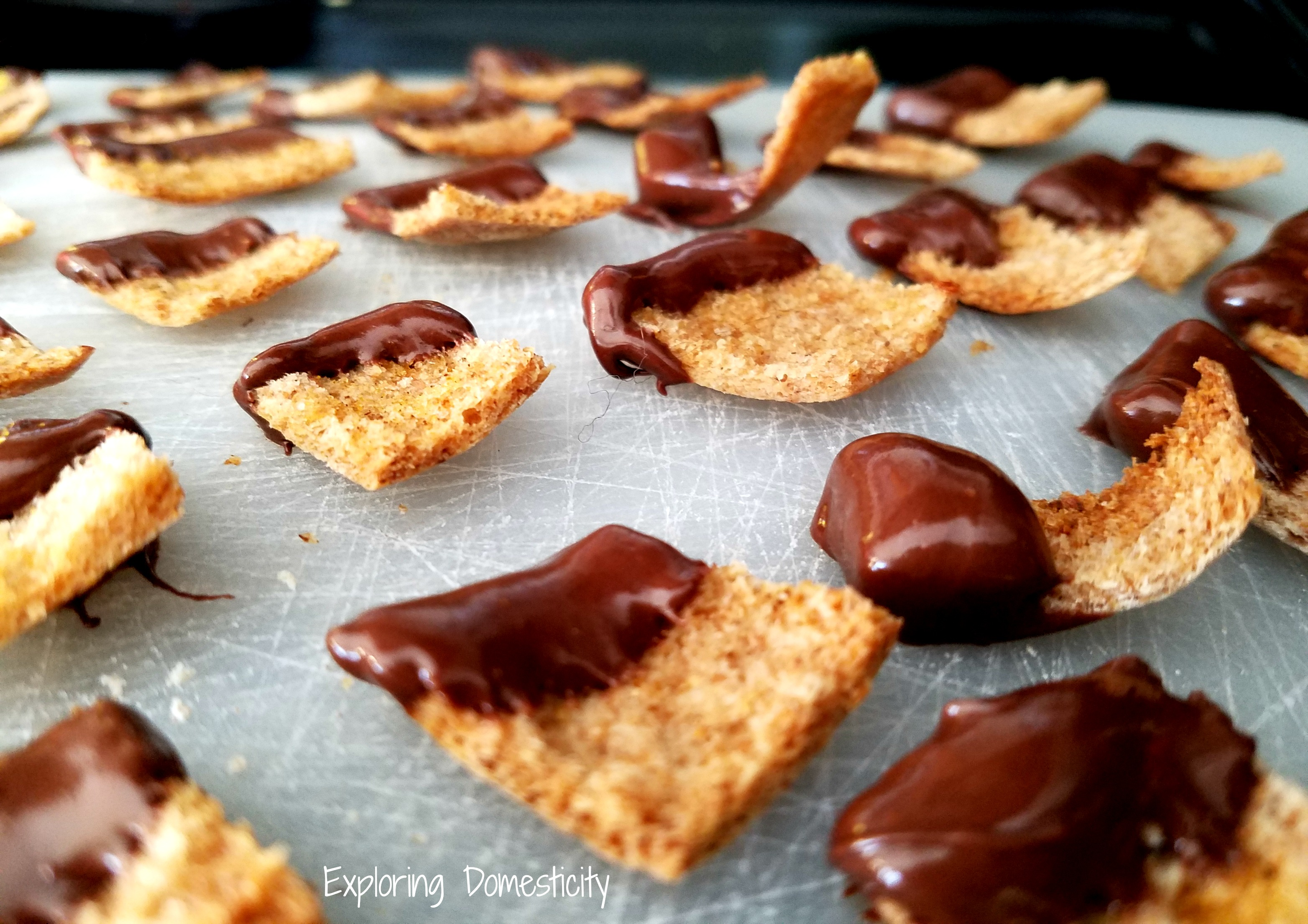 Chocolate Covered Pita Chips ⋆ Exploring Domesticity