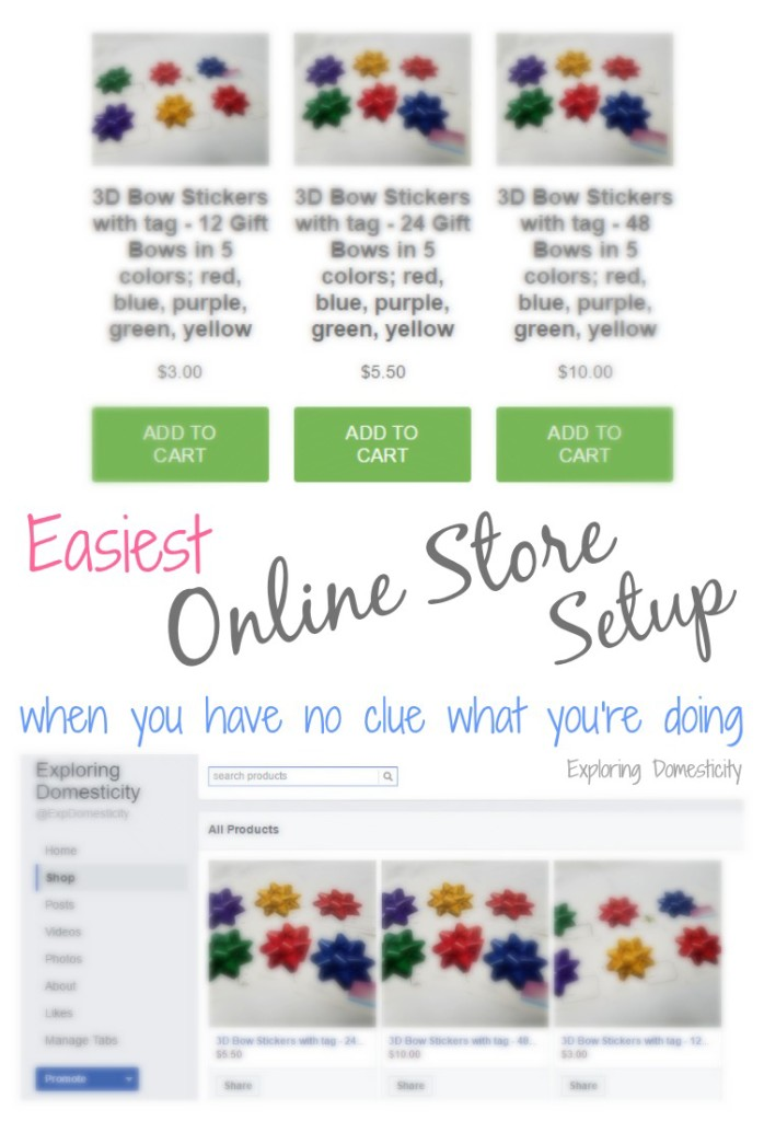 Easiest Online Store Setup when you have no clue what you're doing