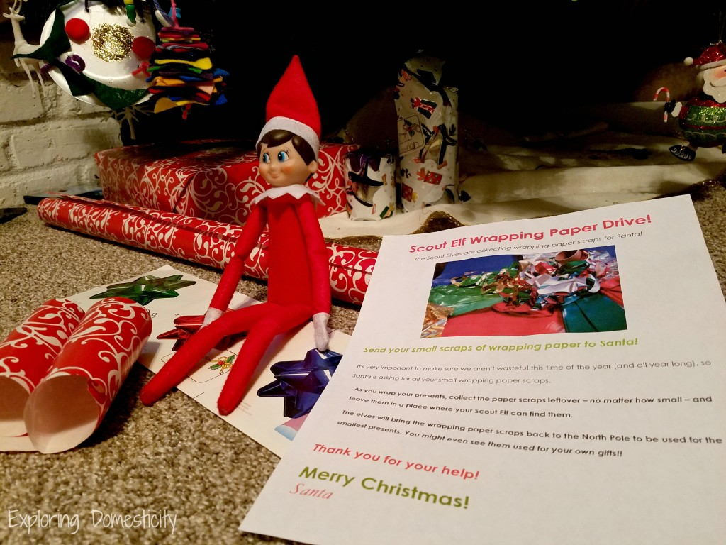 Scout Elf Wrapping Paper Drive - Elf on the Shelf