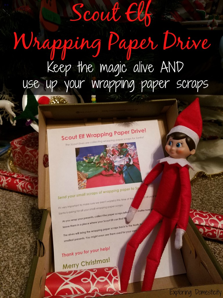 Scout Elf Wrapping Paper Drive