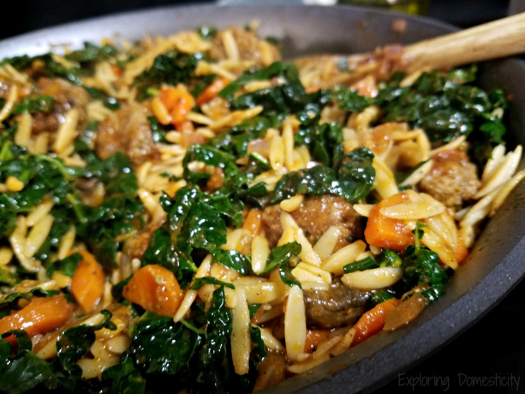 Green Chef Italian Meatballs and Orzo