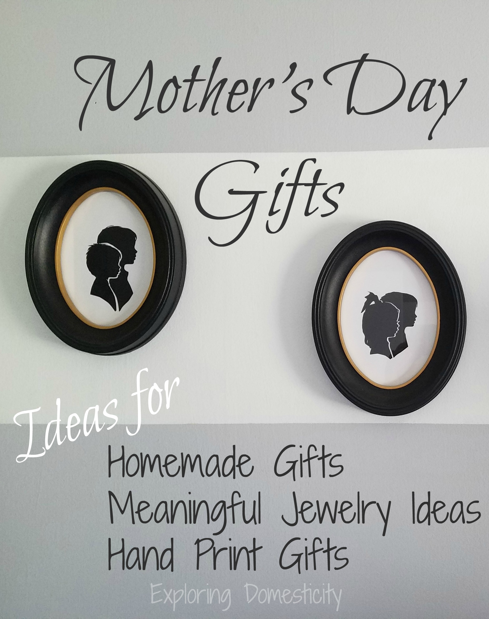 Mother\'s Day Gifts: Homemade, Meaningful Jewelry, and Hand Print Art ...