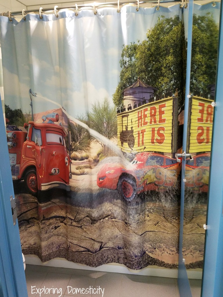 WDW Art of Animation Cars Suites Bathroom Shower Curtain