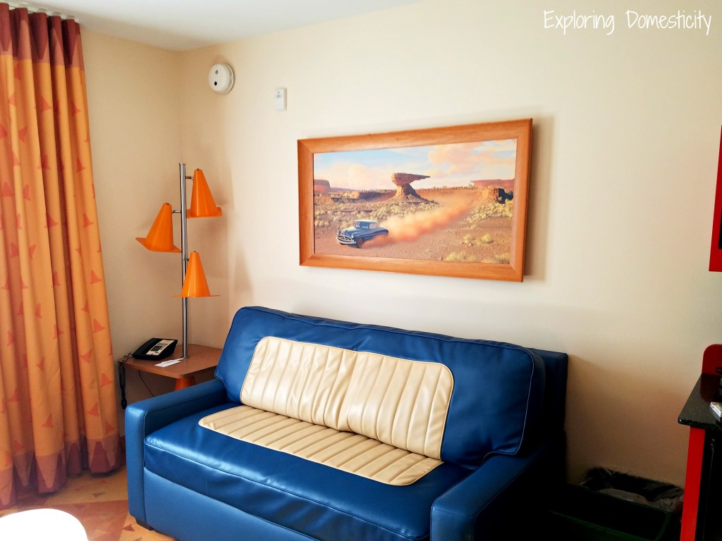 WDW Art of Animation Cars Suites main living space
