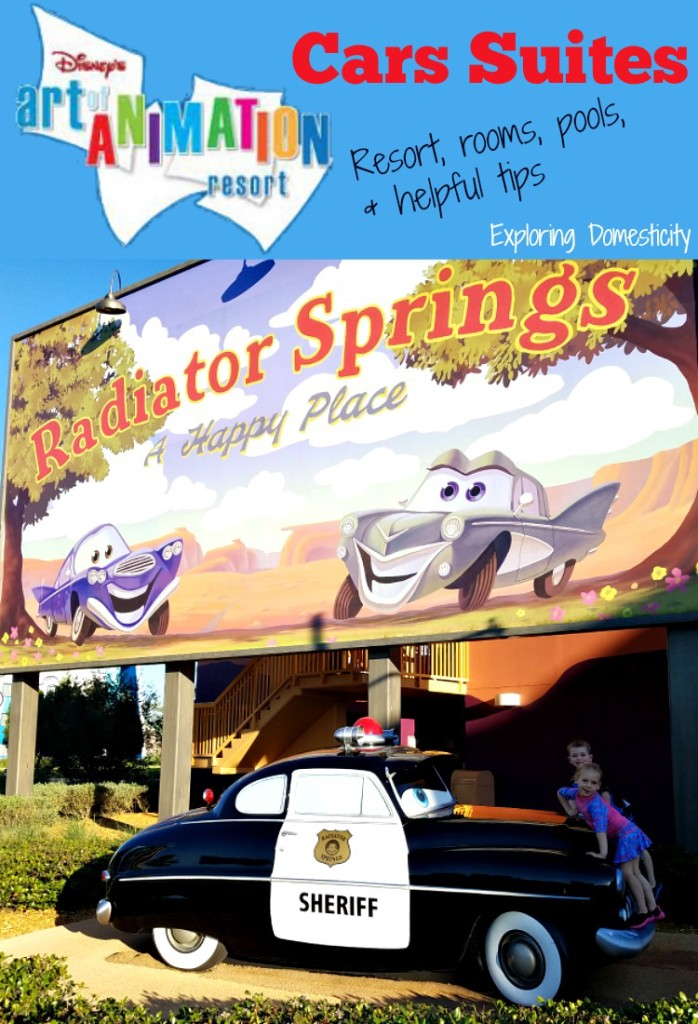 Walt Disney World Art of Animation Resort Cars Suites: a view of the rooms, resort, pools, and some helpful tips